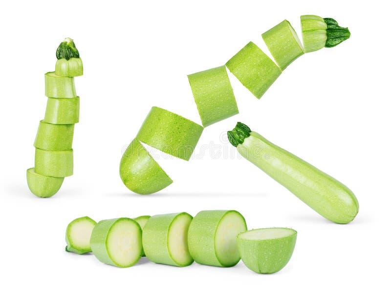 Calabacín de las verduras frescas aislado en el fondo blanco fotografía de archivo libre de regalías