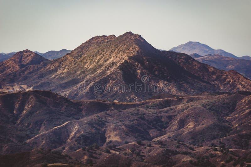 Calabasas и горы Санта-Моника стоковые фотографии rf