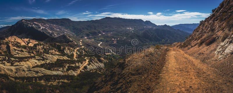 Calabasas szczytu śladu panorama obraz royalty free