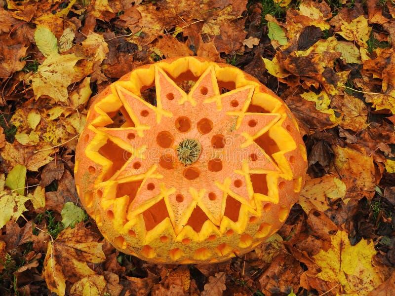 Calabaza anaranjada de Halloween imágenes de archivo libres de regalías