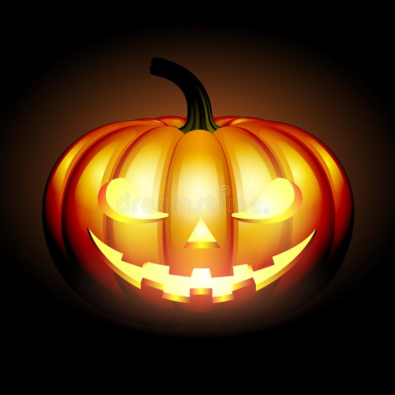 Calabaza asustadiza de Halloween del enchufe ilustración del vector