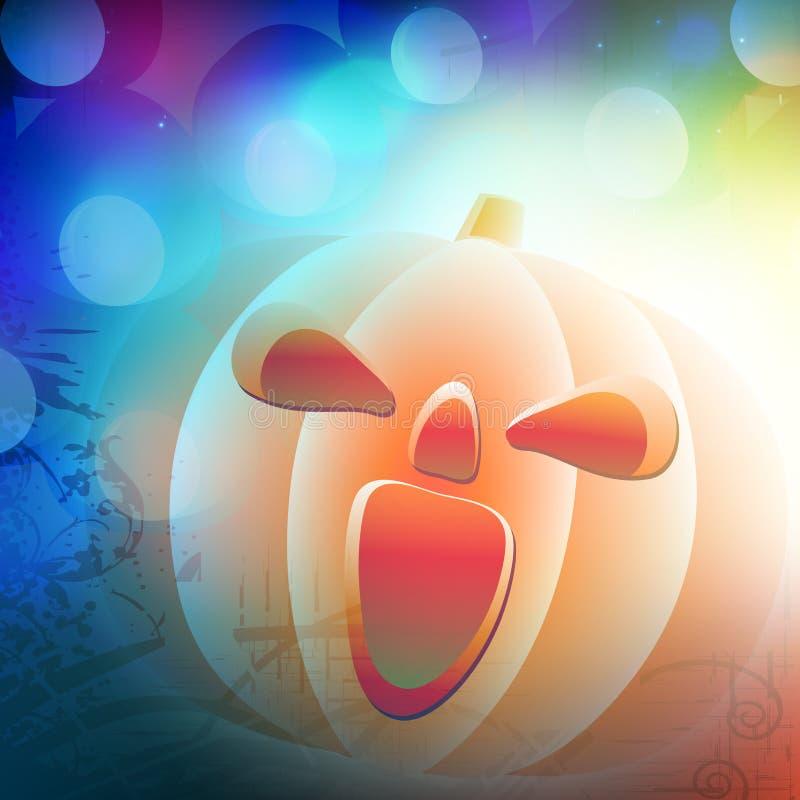 Calabaza asustadiza para la celebración del partido de Halloween libre illustration