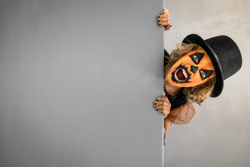 Calabaza Autumn Holiday Concept de Halloween fotografía de archivo