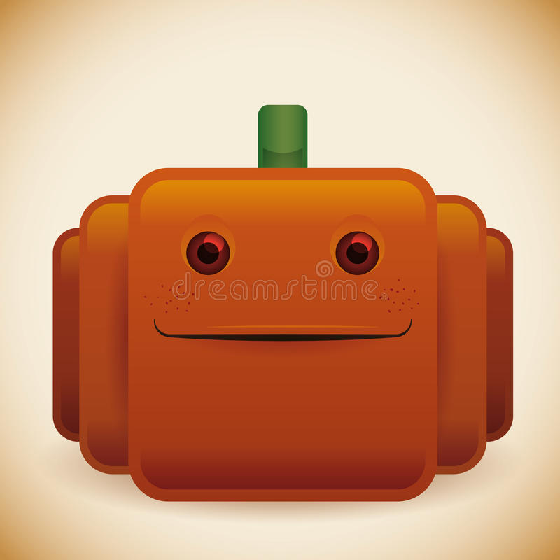 Calabaza brillante del feliz Halloween libre illustration