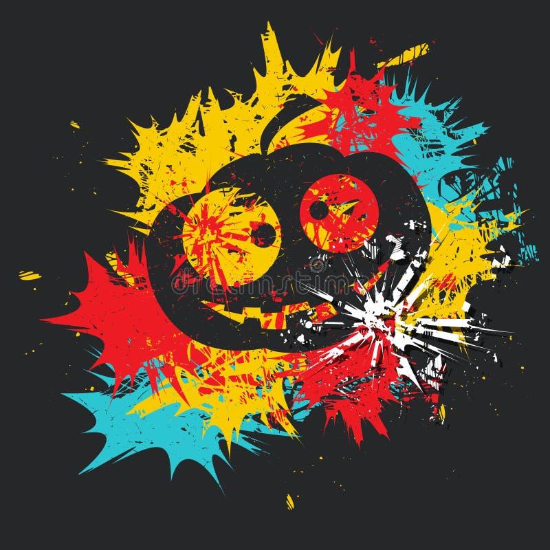 Calabaza Cartel de Víspera de Todos los Santos Ejemplo del vector del Grunge ilustración del vector