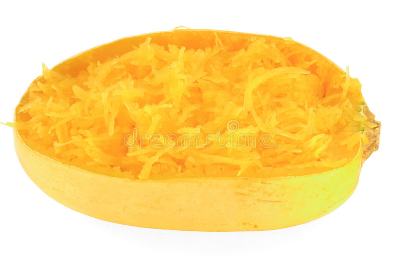 Calabaza de espagueti cocinada imagen de archivo