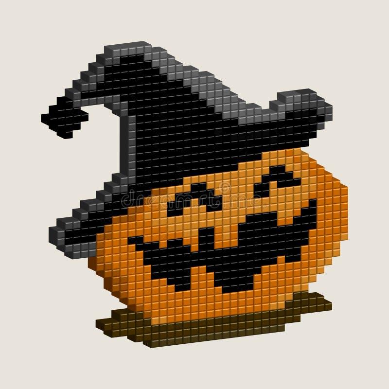 Calabaza de Halloween, arte del pixel 3D para el diseño libre illustration