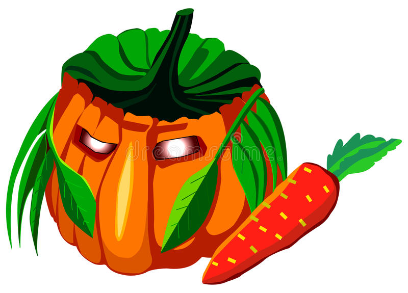 Calabaza de Halloween, ejemplo del vector libre illustration