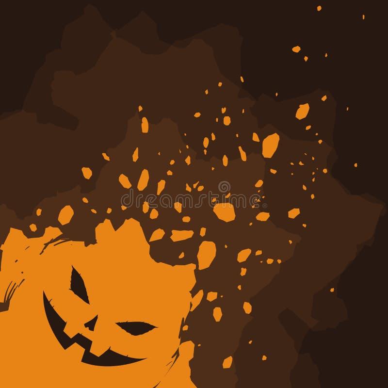 Calabaza de Halloween en fondo de la salpicadura ilustración del vector