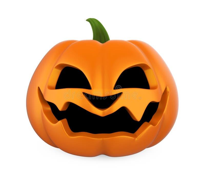 Calabaza de Halloween de la linterna de Jack O aislada stock de ilustración