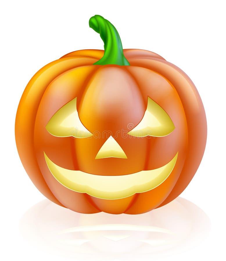 Calabaza de la linterna de Halloween stock de ilustración