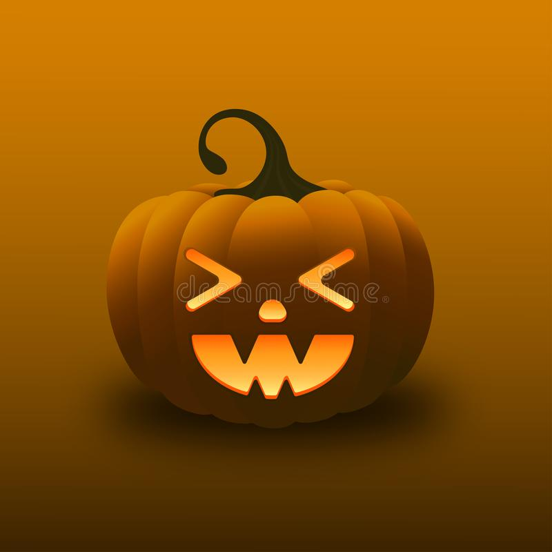 Calabaza de la pendiente de la sonrisa del feliz Halloween imagenes de archivo