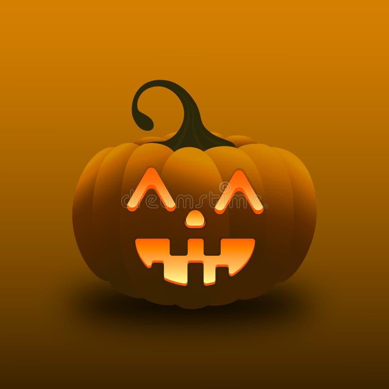 Calabaza de la sonrisa del día del feliz Halloween fotografía de archivo libre de regalías