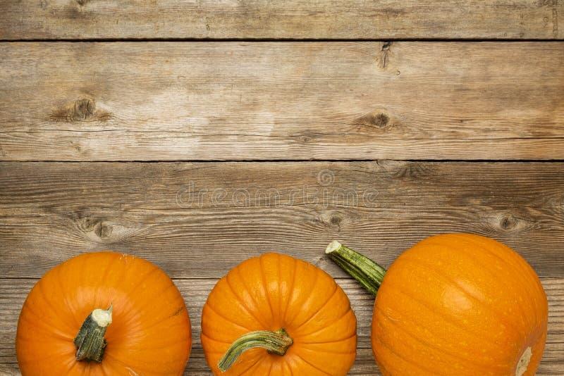 Calabaza de otoño en la madera rústica fotos de archivo libres de regalías
