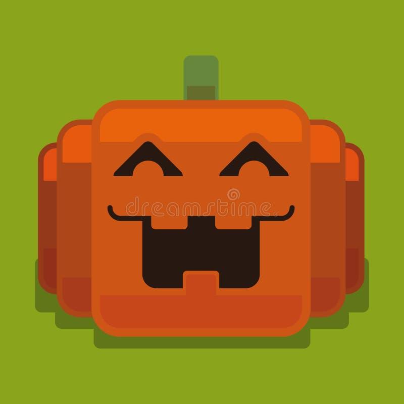 Calabaza del pixel de Halloween libre illustration