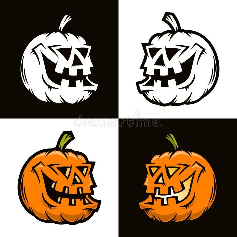 Calabaza divertida de Halloween en la visión media vuelta libre illustration