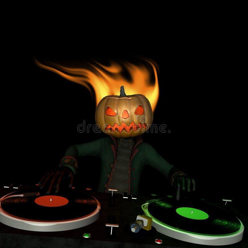 Calabaza DJ principal 1 stock de ilustración