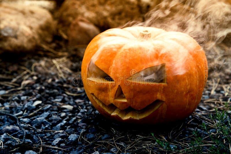 Calabaza fantasmagórica de Halloween foto de archivo