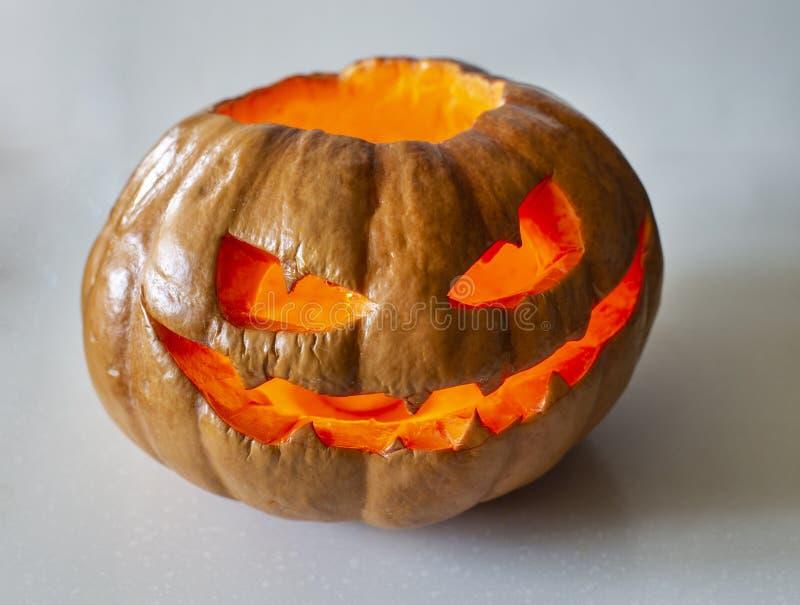Calabaza fea de Halloween imágenes de archivo libres de regalías