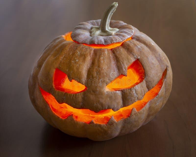 Calabaza fea de Halloween foto de archivo