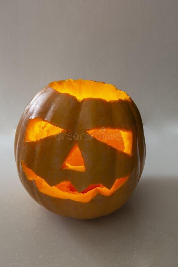 Calabaza fea de Halloween fotografía de archivo libre de regalías