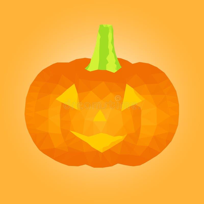 Calabaza poligonal de Halloween stock de ilustración