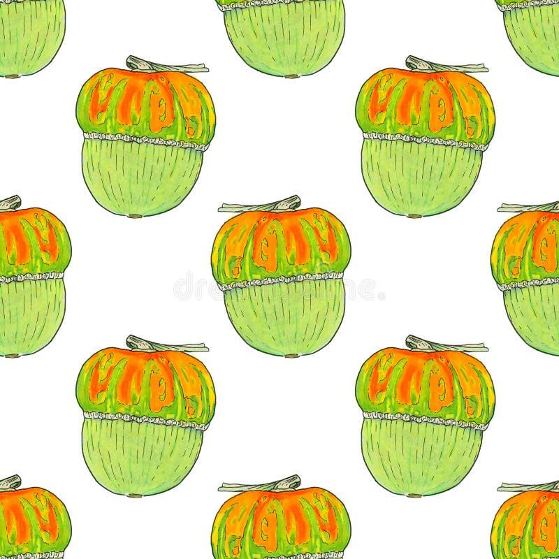 Calabaza Tema del día de Halloween y de la acción de gracias libre illustration