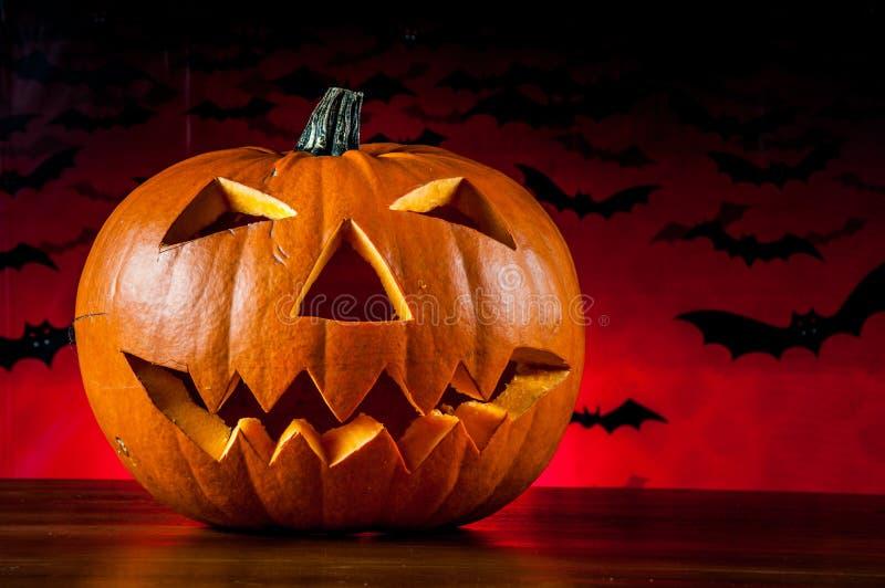 Calabazas asustadizas de Halloween fotografía de archivo