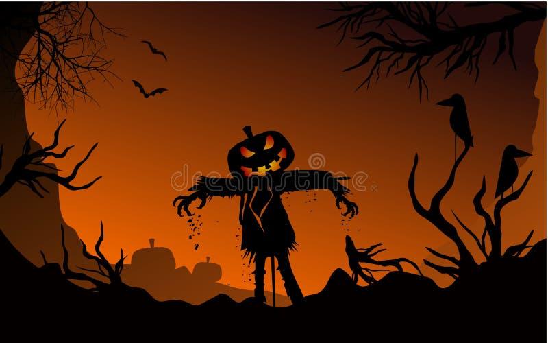 Calabazas asustadizas de Halloween con el modelo inconsútil de las cicatrices libre illustration