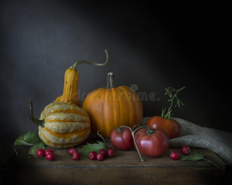 Calabazas, bayas y tomates, calabazas, bayas y tomates imagen de archivo libre de regalías