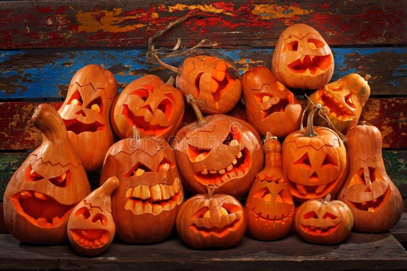 Calabazas de Halloween imagen de archivo