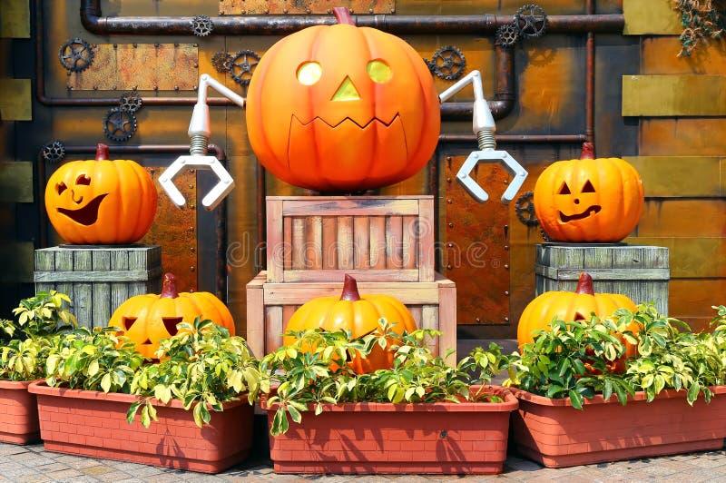 Calabazas de Halloween fotografía de archivo libre de regalías