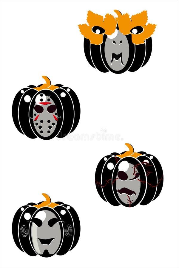 Calabazas de Halloween II ilustración del vector