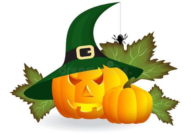 Calabazas para Halloween stock de ilustración