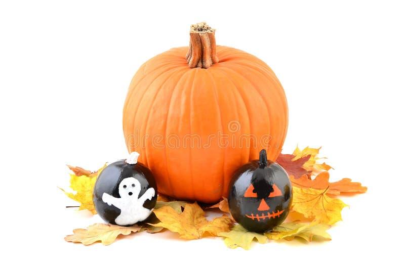 Calabazas pintadas de halloween foto de archivo imagen - Calabazas pintadas para halloween ...