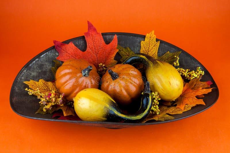 Calabazas y Autumn Leaves imagen de archivo