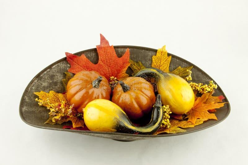 Calabazas y Autumn Leaves fotos de archivo libres de regalías