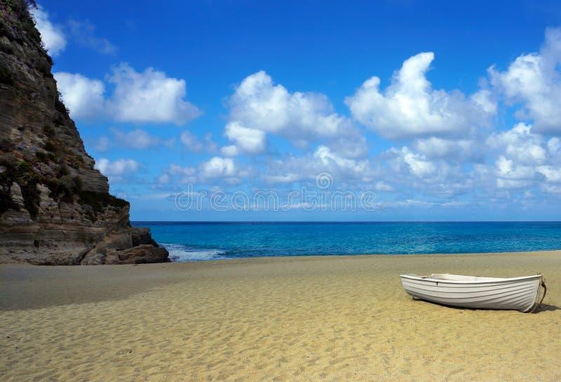 Calabria, beach of Tropea city, royalty free stock photo