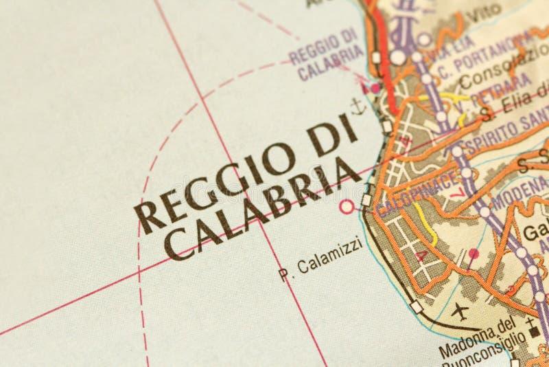 calabria di reggio Ön av Sicilien, Italien arkivbild