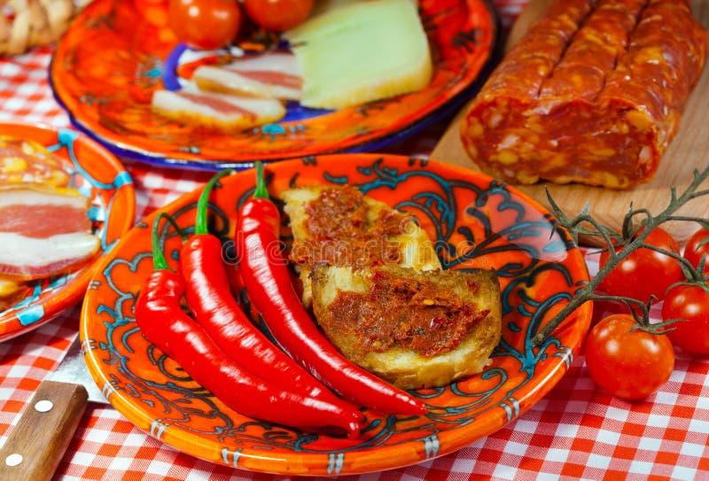 Calabria plats mat royaltyfri bild