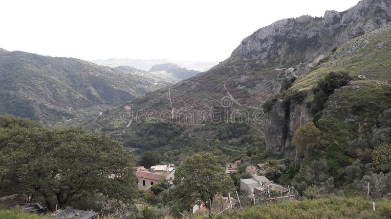 Calabria& x27; s landschap royalty-vrije stock foto's
