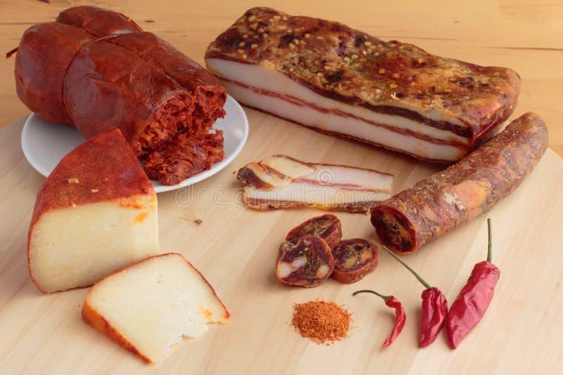 Calabrian kryddade livsmedelsprodukter arkivfoto