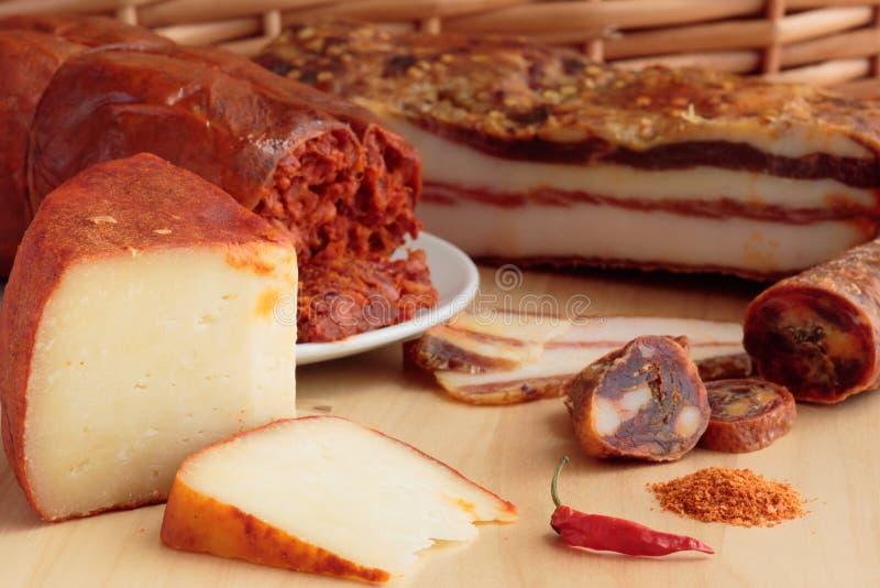Calabrian kryddade livsmedelsprodukter fotografering för bildbyråer