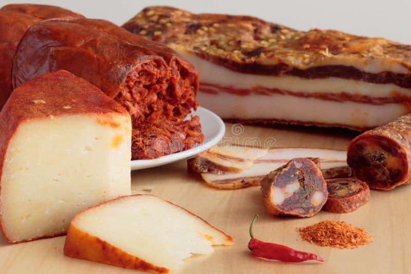 Calabrian kryddade livsmedelsprodukter royaltyfri fotografi