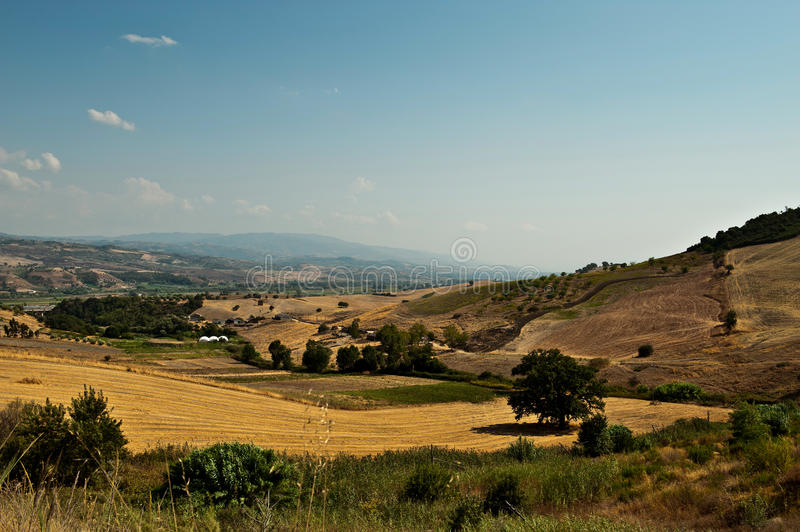 Calabrian landscape royalty free stock photo