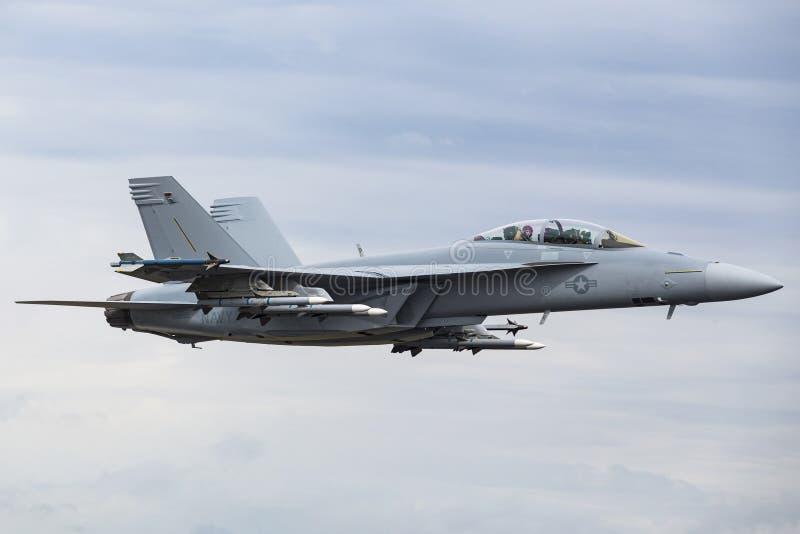 Calabrone eccellente di Boeing F/A-18E/F immagine stock