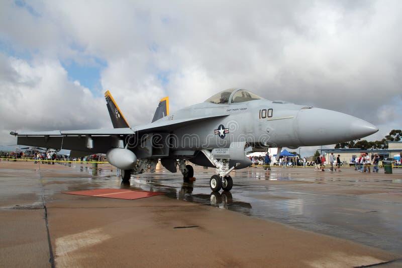 Calabrone eccellente di F/A-18E fotografia stock libera da diritti