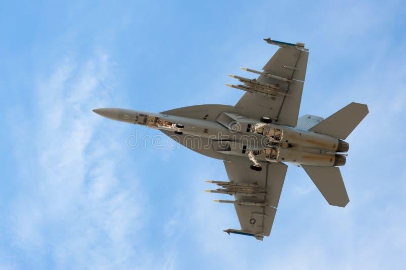 Calabrone eccellente F-18 fotografie stock libere da diritti