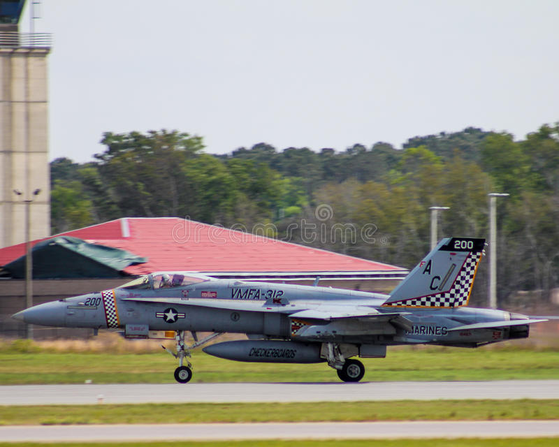 Calabrone eccellente F/A-18 fotografia stock