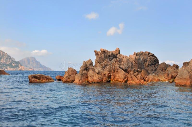 Calaches皮亚纳(可西嘉岛) 库存图片